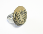 "eternal paper ring ""pebbles from the river of knowledge"" - paper pebble made of multi-layered encycl"