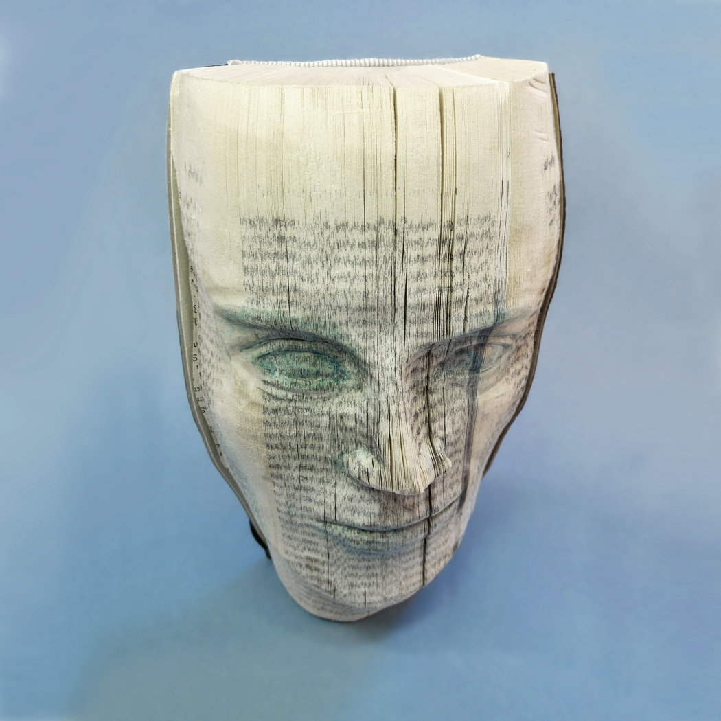 Book face No. 030, 17 x 20 cm, wall hanging