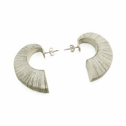 "Paper jewel creole earring ""wings"""