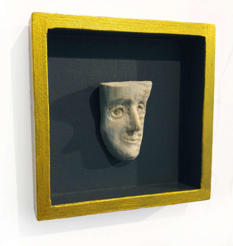 Buch Gesicht Portrait Miniatur Skulptur - von Christine Rozina