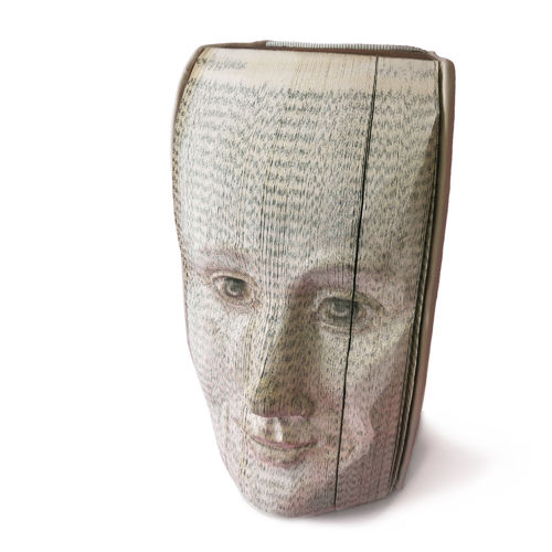 Book face, standing sculpture